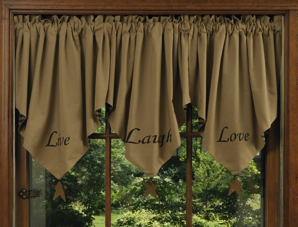 Live Laugh Love Valance Geneva Country Store