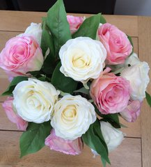 EXTRA LARGE PINK & CREAM PREMIUM ROSE VASE ARRANGEMENT