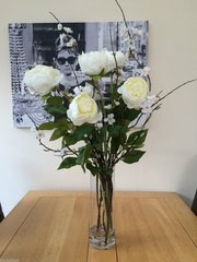 EXTRA LARGE PEONY, BLOSSOM & PUSSY WILLOW VASE ARRANGEMENT