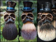 Tophat Skull Shaving Brush - $45-$65