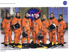 STS-124 Crew Lithograph  **FREE SHIPPING** w/ Book Purchase
