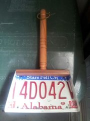 Handmade Decorative License Plate Dust Pan