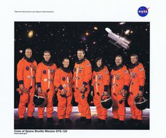 STS-125 Crew Lithograph   **FREE SHIPPING** w/ Book Purchase
