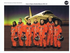 STS-121 Crew Lithograph  **FREE SHIPPING** w/ Book Purchase