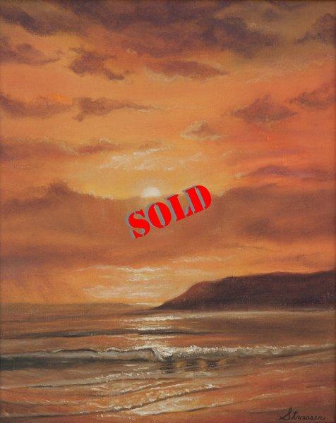 Golden Shoreline 16 x 20 Oil on Canvas (SOLD)