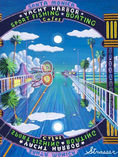 Retro Santa Monica Pier | 12 x 16 | Canvas Print