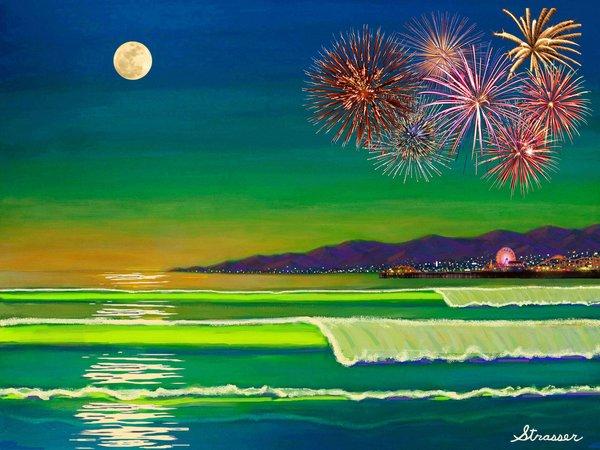 Celebrate Freedom - Venice, California (Canvas Print)
