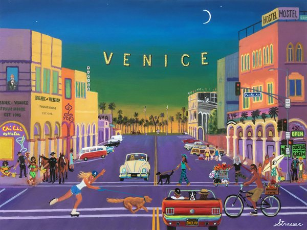 Abbot Kinney's Wildest Dream   24 x 36   Acrylic on Canvas Painting