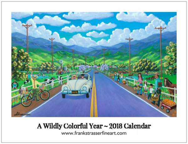 "(Set of 5) 2018 Wildly Colorful Calendars | (Classic 8.5"" x 11"")"