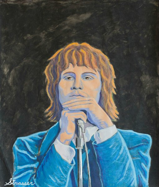 Jim Morrison | 14 x 18 | Acrylic on Paper.
