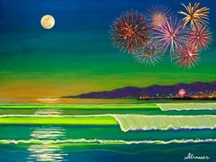 Celebrate Freedom - Venice, California (Canvas Print)
