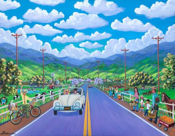 The Road to Happy Destiny   24 x 32   Canvas Print