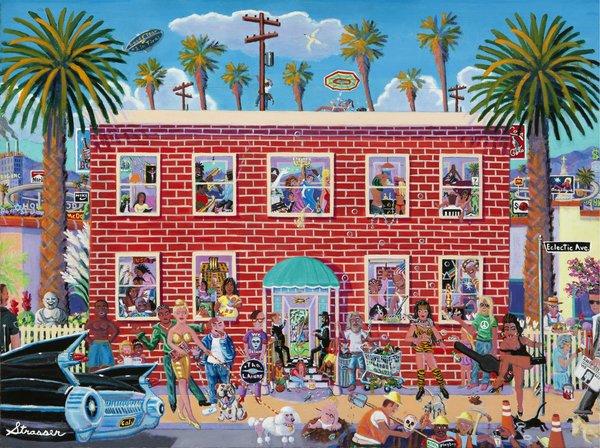 """Eclectic Avenue - Fine Art Canvas Print - 24"""" x 32"""""""
