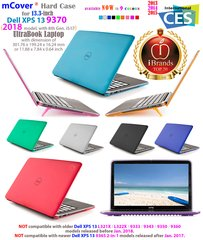 "mCover Hard Shell Case for 13.3"" Dell XPS 13 2018 model 9370 (released after Jan. 2018) Ultrabook laptop"