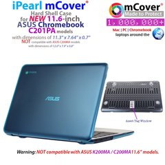 mCover Hard Shell Case for 11.6-inch ASUS C201PA series Chromebook