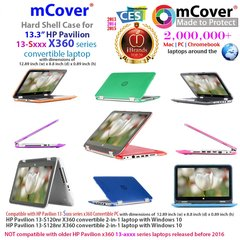 """mCover Hard Shell Case for 13.3"""" HP Pavilion 13-Sxxx series (13-S120nr / 13-S128nr, etc ) X360 Convertible 2-in-1 laptops"""