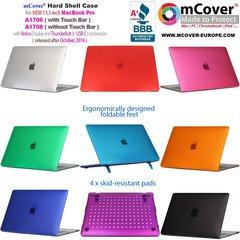 mCover Hard Shell Case for new 2016 13-inch Model A1706 / A1708 MacBook Pro (with 13.3-inch Retina Display, with or without Touch Bar, thunderbolt 3 / USB-C ports only)