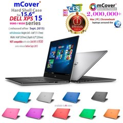 "mCover Hard Shell Case for 15.6"" Dell XPS 15 9560 / 9550 / Precision 5510 series (released after Sept. 2015) Ultrabook laptop"