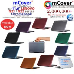 """mCover Hard Shell Case for 11.6"""" Lenovo N21 / N22 CTL NL6 Chromebook (**Not compatible with Lenovo chromebook 11.6 N20p, N22 Winbook**)"""