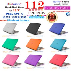 "mCover Hard Shell Case for 13.3"" Dell XPS 13 L321X / L322X / 9333 model (released before Jan. 2015) Ultrabook laptop"