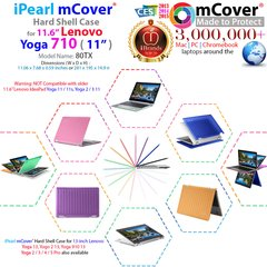 "mCover Hard Shell Case for NEW 11.6"" Lenovo Yoga 710 laptop"