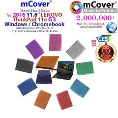 "mCover Hard Shell Case for 2016 11.6"" Lenovo ThinkPad 11e G3 3rd Generation ( NOT fitting older ThinkPad / Yoga 11e G2 2nd Generation ) Windows / Chromebook Laptops"