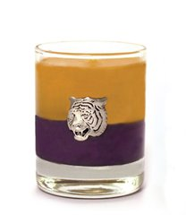 Geaux Tigers Soy Candle with Pewter Tiger Accent