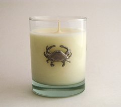 Soy Candle (14 oz.) with Pewter Crab