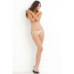 Crotchless Industrial Net Suspender Bodystocking in OS