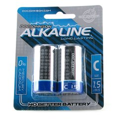 Alkaline C Batteries 2 Pack