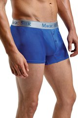 Royal Blue Silk Button Pouch Boxers in S