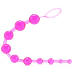 PinkCherry Jelly Anal Beads in Pink