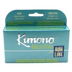 MicroThin Aqua Lube Condoms in 12 Pack