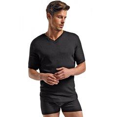 Soft Black Rib Knit T-Shirt in M