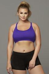 Seamless Purple Strappy Sports Bra in 3X/4X