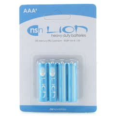 Lion Heavy Duty Batteries 4 Pack in AAA