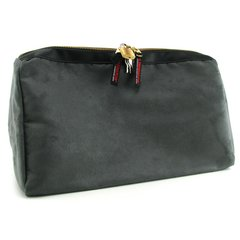 Tallulah Toy Case in Charcoal Microsuede