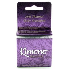 Kimono MicroThin Large Condoms in 3 Pack