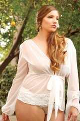 Kelly Soft Mesh Bed Jacket in 3X