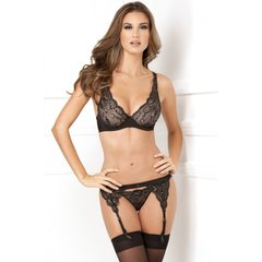 Lux Lace Garter Set in S/M