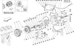 Maserati COMPLETE ENGINE FLYWHEEL PN P230426
