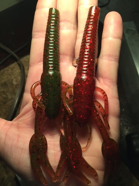 Craw Worm in Falcon Lake Craw Color