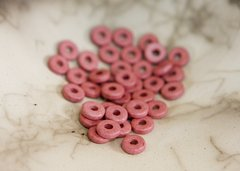 Blushing Pink Greek Ceramic Washer Beads