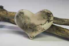 Horse Hair Fired Heart