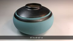 Turquoise and Steel Bowl