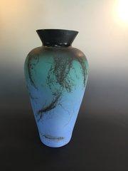 Teal and Blue Vase
