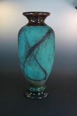 Horse Hair Copper-Teal Vase