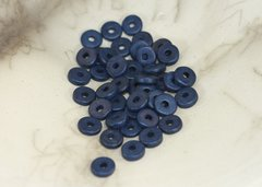 Ceramic Greek Washer Bead - Navy