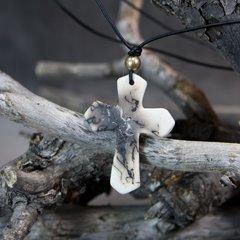 Horse Hair Cross Necklace