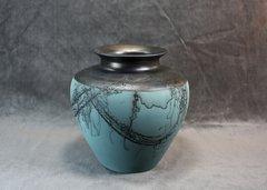 Steel and Teal Vase